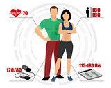 Infographics healthy body
