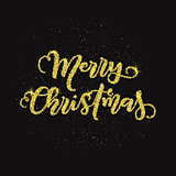 Glitter merry christmas background
