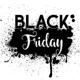 Grunge Black Friday sale background