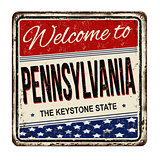 Welcome to Pennsylvania vintage rusty metal sign