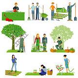 Gardening. Garden tools, garden maintenance