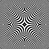 Op art abstract design.