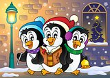 Christmas penguins theme image 5