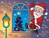 Climbing Santa Claus theme image 3
