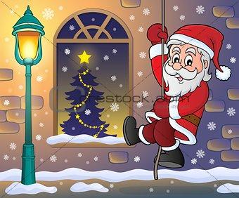 Climbing Santa Claus theme image 4