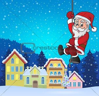 Climbing Santa Claus theme image 5