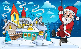 Climbing Santa Claus theme image 6