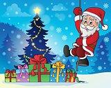 Climbing Santa Claus theme image 7