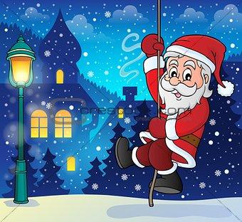 Climbing Santa Claus theme image 8
