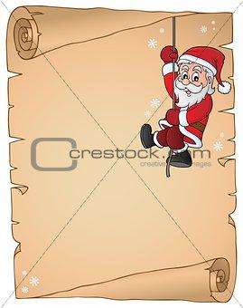 Climbing Santa Claus theme parchment 1