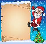 Climbing Santa Claus theme parchment 2