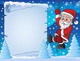 Climbing Santa Claus theme parchment 3