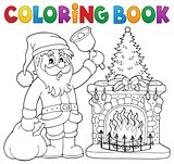 Coloring book Santa Claus thematics 1