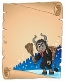 Parchment with Krampus theme 2