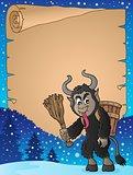 Parchment with Krampus theme 3
