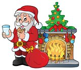 Santa Claus breakfast theme 3