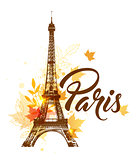 Autumn Paris background
