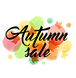 Abstract background for autumn sale