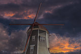 Dutch Windmill in Lynden Washington State at Sunset