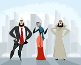 Arab men and woman