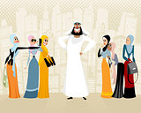Arab man and women