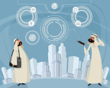Arab men and telephone technology