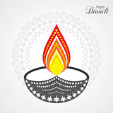 Illustration of Diwali utsav greeting or poster card