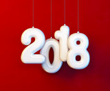 new year 2018, 3d rendering