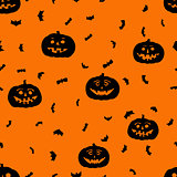 vector halloween seamless pattern