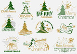 Merry Christmas Typography Set