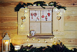wooden christmas window