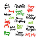 Christmas New Year Lettering