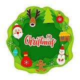 Christmas Paper Cut Concept