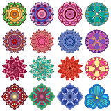 Set of twenty five stylish color flowers