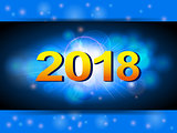 New years blue glowing background