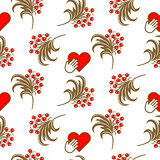 Russian folk berry traditional seamless pattern.
