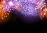 Fireworks Display Background