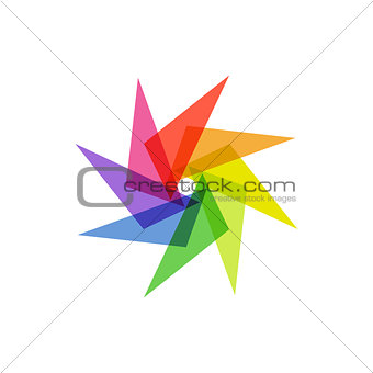 Abstract star logo icon design template element