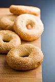 tasty bagel with sesame seed