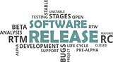 word cloud - software release