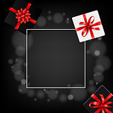 Banner With Gift Box Black Friday