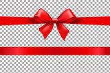 Red Bow Isolated Background
