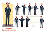 Set of business character