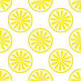 Lemon fruit pattern yellow and white