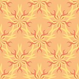 Seamless abstract stars vintage orange pattern