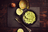 fresh homemade guacomole sauce
