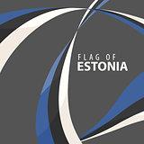 Flag of Estonia against a dark background
