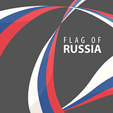 Flag of Russia on a dark background