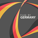Flag of Germany against a dark background