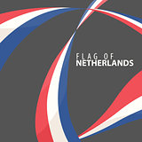 Flag of the Netherlands against a dark background